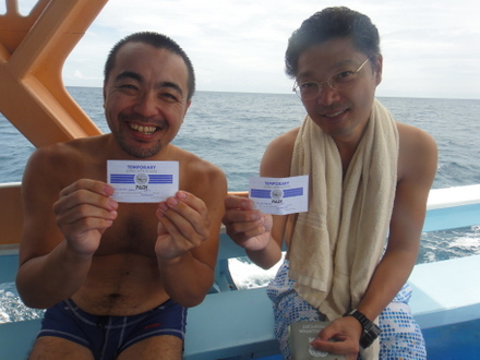 タオ島 ダイビング AOW終了・シバタ、アラカワ