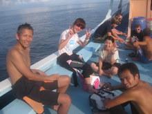 タオ島 ボート上 ダイビング