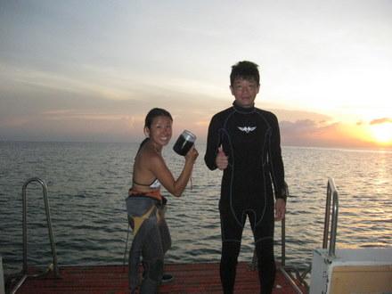 タオ島 ダイビング 講習 ナイトダイブ