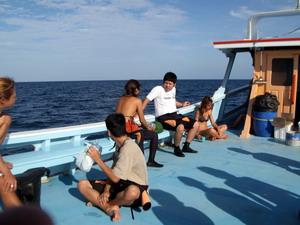 タオ島ダイビング ボートブリーフィング