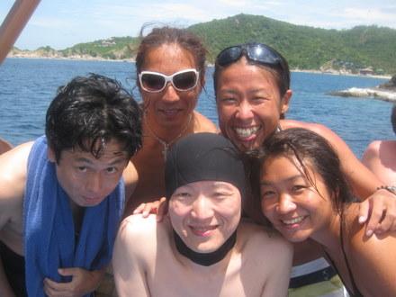 タオ島 ダイビング ボート ダイバー