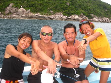 タオ島 ダイビング ボート カメ