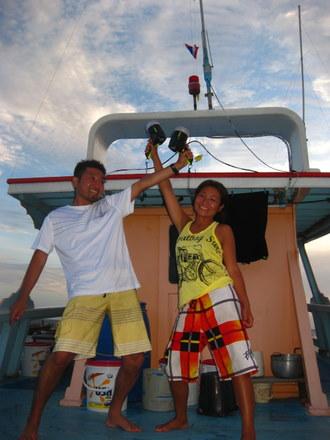 タオ島 ナイトダイブ ボート上