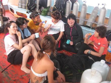 タオ島 ダイビング ボート ゲスト