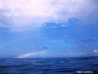 タオ島 水面 虹