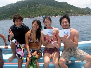 タオ島 ダイビング 9月2日OW修了
