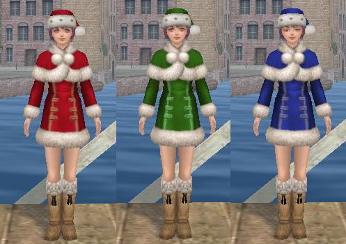 サンタ服3色