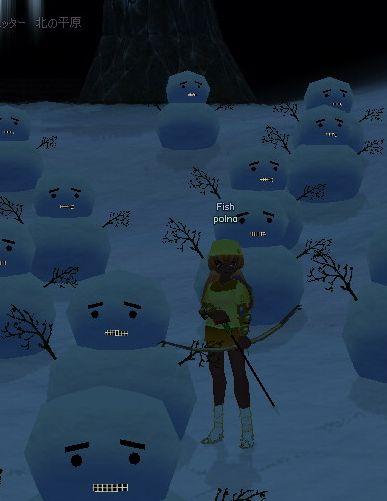 雪ダルマさん、おひさ~っ