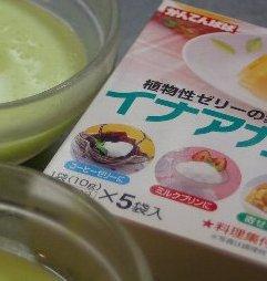 イナアガーと枝豆豆腐