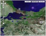 赤丸の地点が、首都ニケイア(現在のイズニク市)