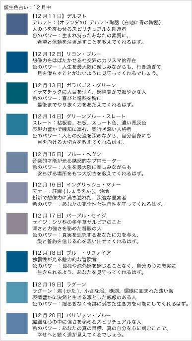 誕生色占い12月中20111216