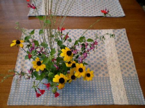 庭のお花と