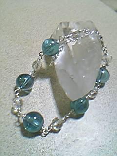 アクアオーラと水晶のブレスレット