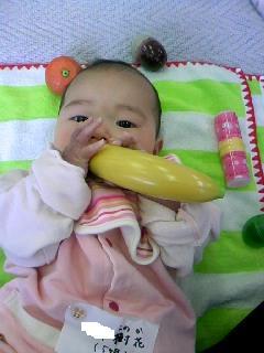 3月11日バナナをムシャムシャ