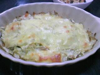 白菜のチーズ焼き