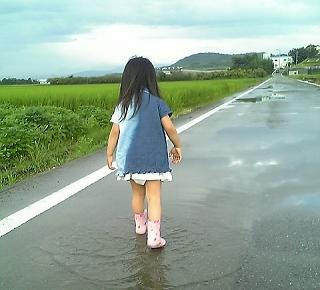 雨上がりの散歩♪