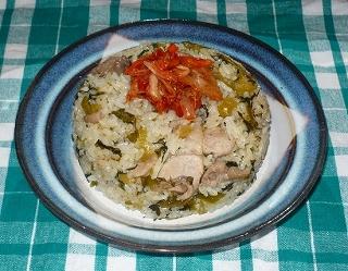 豚肉とゴマ高菜の炒飯。