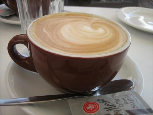 アートギャラリーのコーヒー