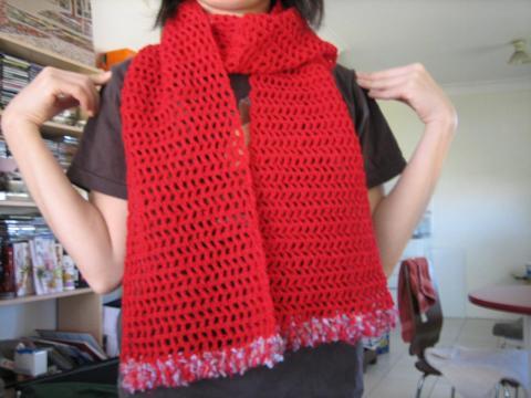 かぎ針編みマフラー