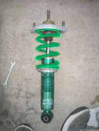 テインRAにスイフトのID70ミリ緑色バネを装着した際の予想イメージ