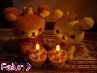 私のお誕生日を祝ってる~♪( つД`)