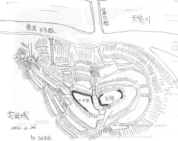 花岡城縄張図