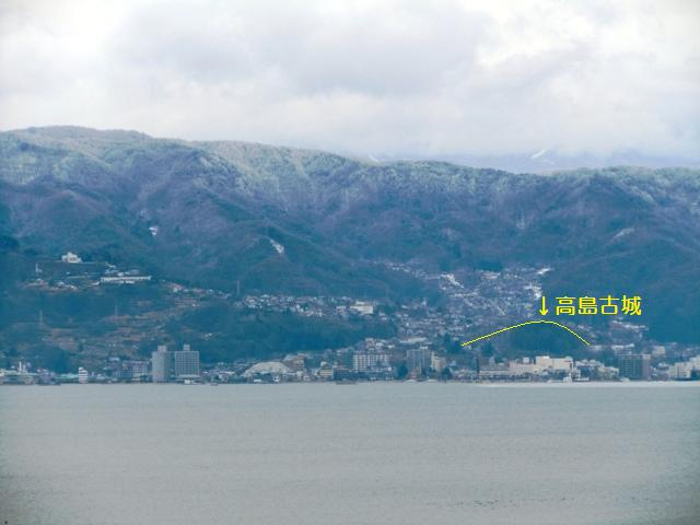 高島古城遠景