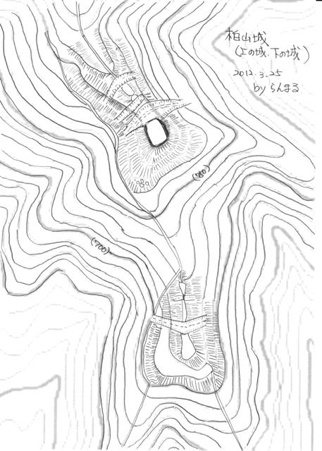 柏山城縄張図2