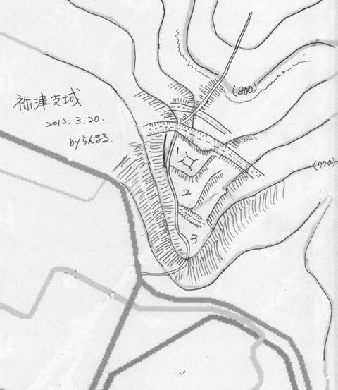 祢津支城縄張図②