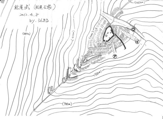 松尾城縄張図