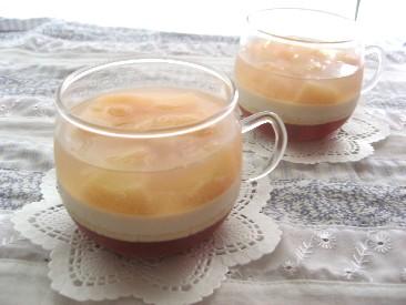 桃と紅茶の3層ゼリー2