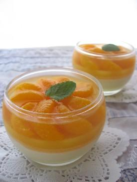 みかんとオレンジムース