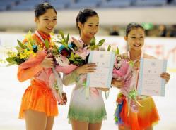 全日本ジュニア08 女子表彰台