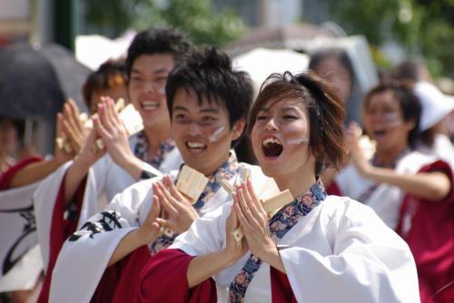 2008 鎌ヶ谷 よさこい 紅白 いただきます