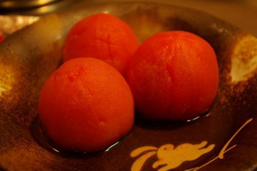 トマトのおでんのできあがり