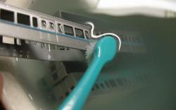 歯ブラシは添えるだけ・・・