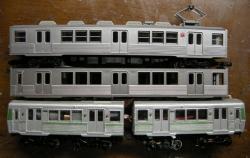 上段:塗装前 中段:塗装後 下段:比較用アルミ車