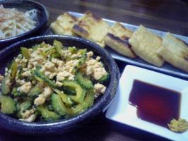 ゴーヤ  山芋料理