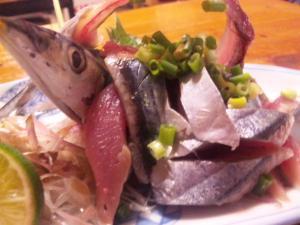 秋刀魚の叩き on the 茗荷