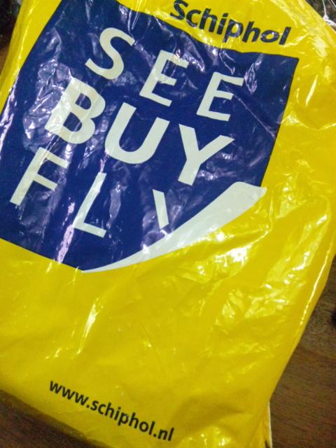 スキポール空港の土産袋はくだらない駄洒落