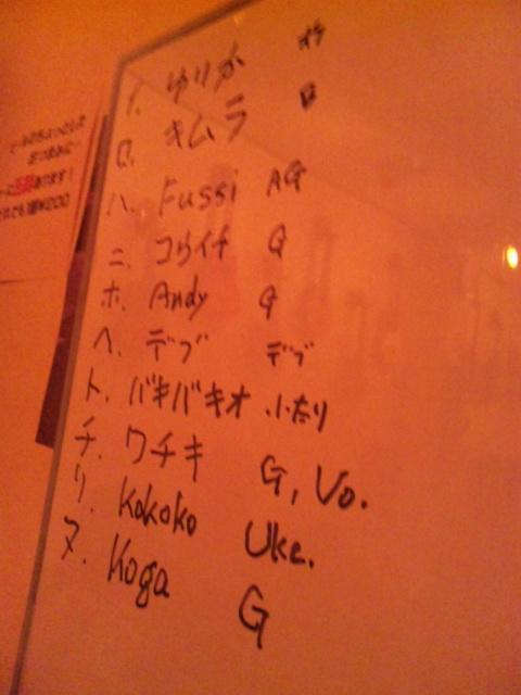アルカフェオープンマイク参戦者名簿