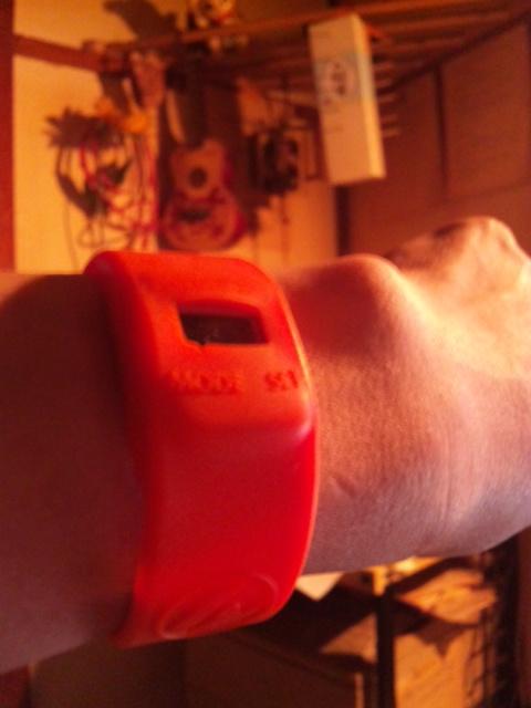 bootstrapのシリコン製防水腕時計(千円、装用中)