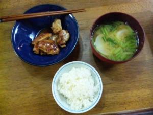 鶏の黒酢煮定食