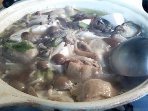 茸と鶏の鍋