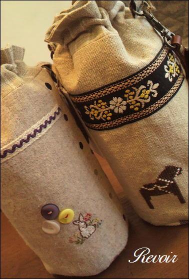 ペットボトルケース刺繍