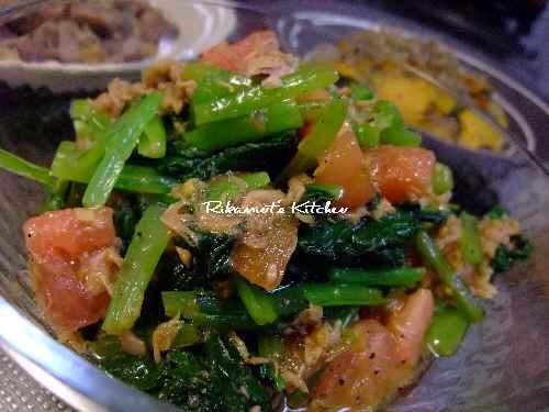 DSCF9・21小松菜とトマトのサラダ