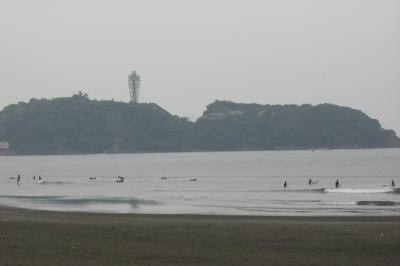 雨の江ノ島