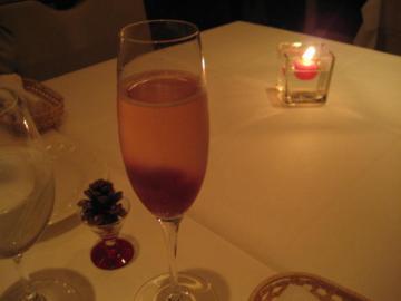 自家製ブドウのグラニテ入りスプマンテ