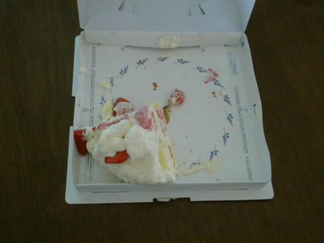 ケーキ残骸