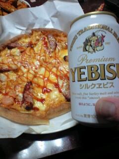 ピザとシルクヱビス